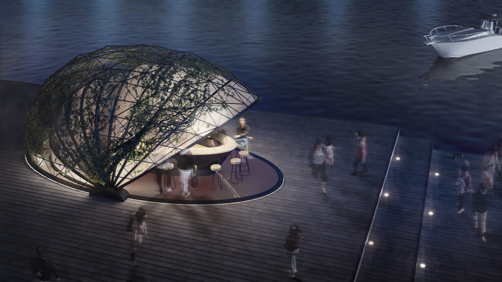 mutiny_cocoon_eatery_concept_exterior_night_waterfront